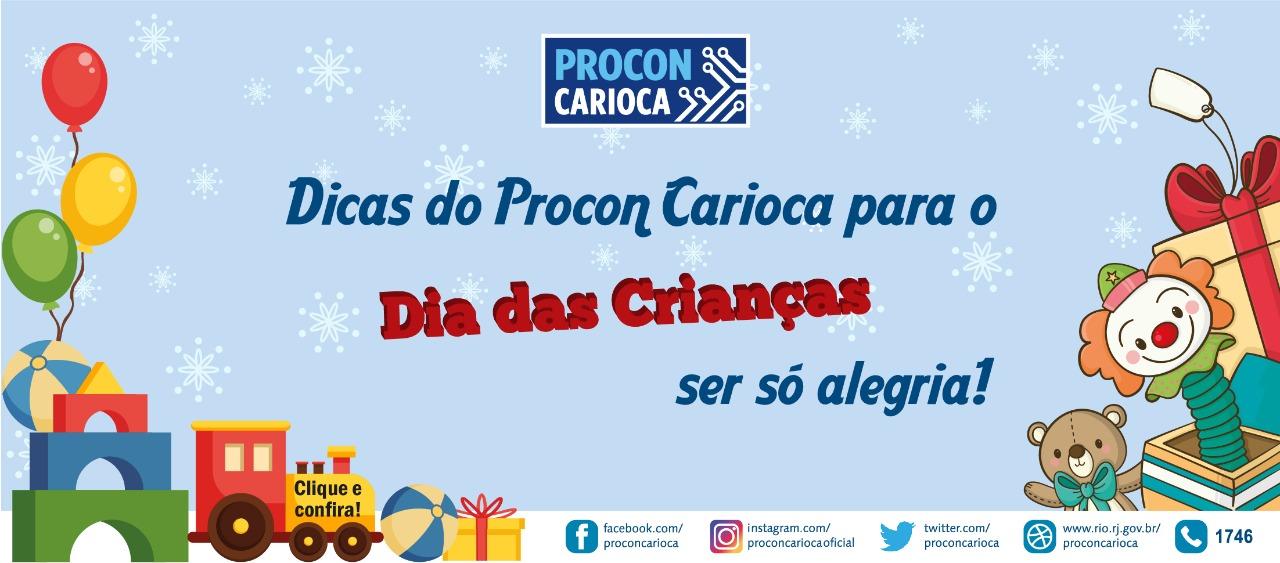 Procon Carioca dá dicas para o Dia das Crianças
