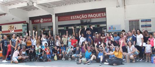 Usuários da Vila Isabel participam de Piquenique em Paquetá