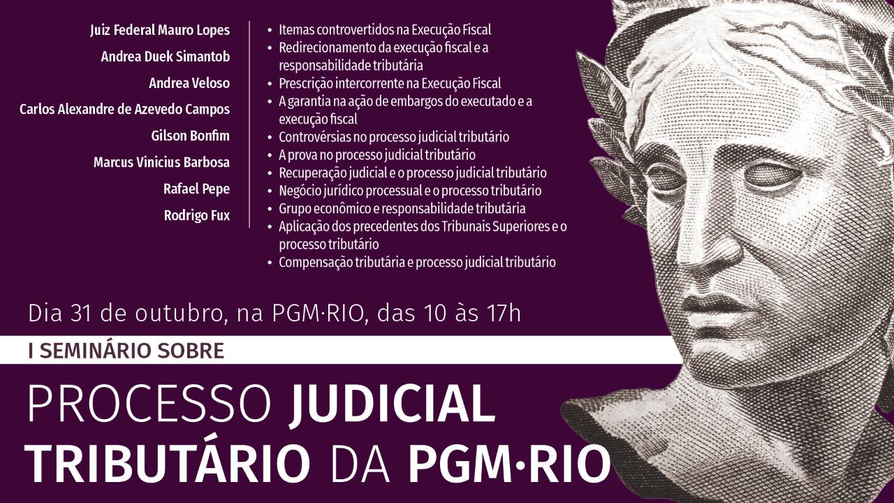 Processo Judicial Tributário é tema de evento na PGM