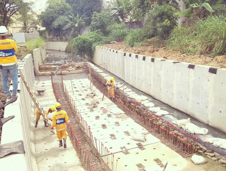 Rio-Águas realiza obras de canalização nos rios Tindiba e Grande
