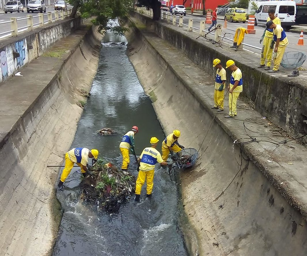 Equipes de manutenção de canais da Rio-Águas concluíram limpeza do Rio Maracanã