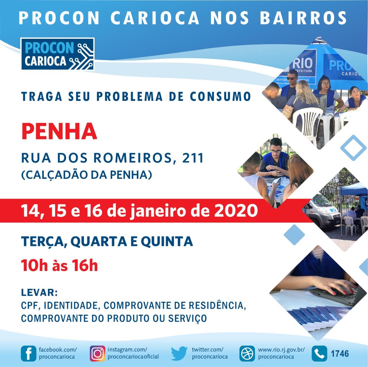 Penha recebe atendimento do Procon Carioca