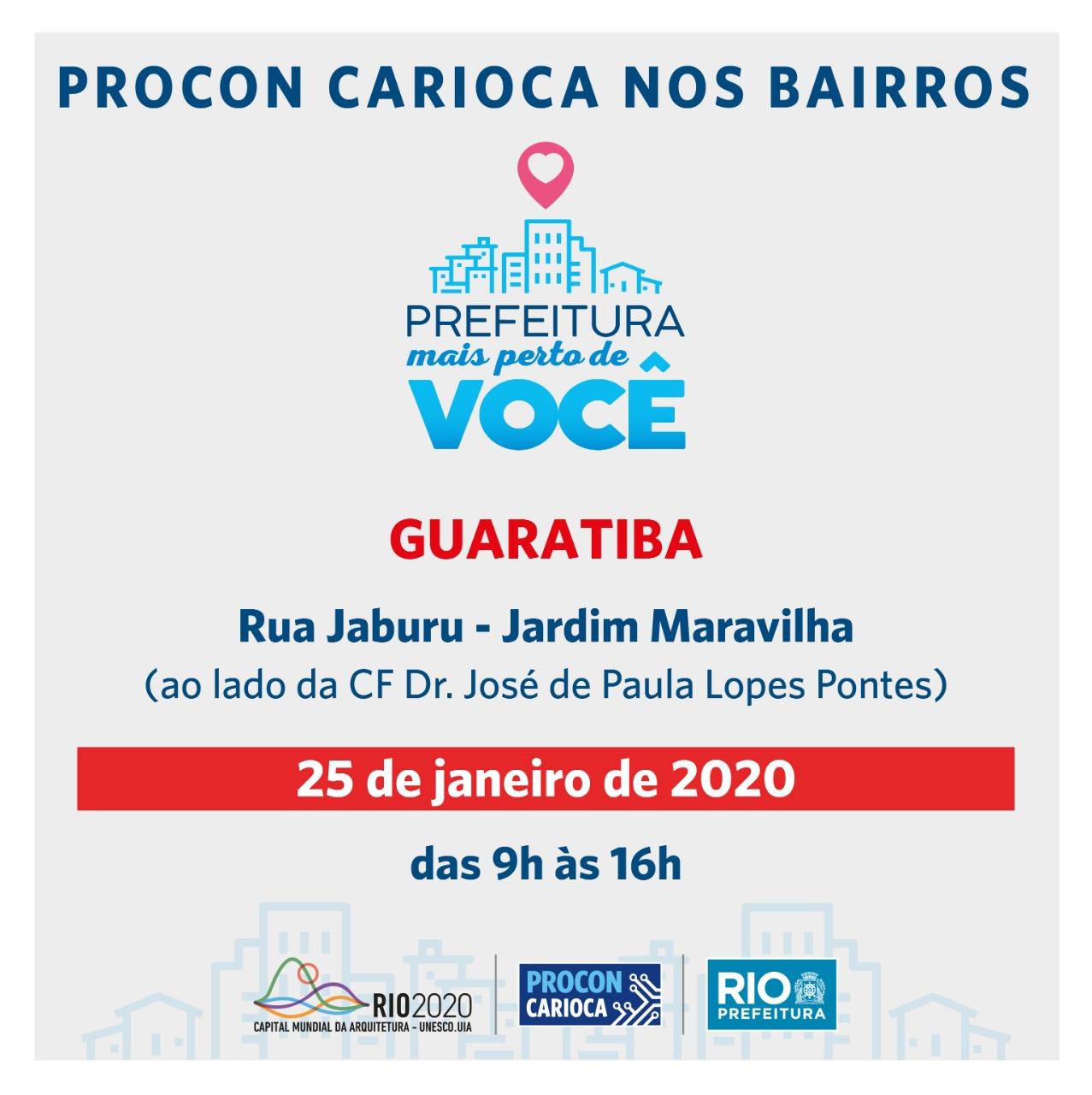 """Guaratiba recebe Procon Carioca na ação """"Prefeitura mais perto de você"""""""