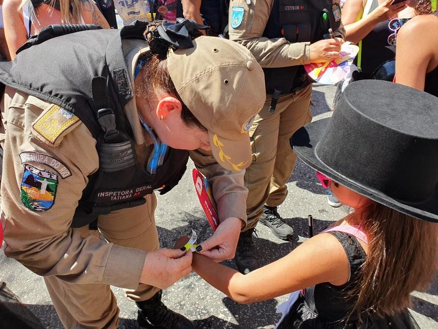 Guarda Municipal e CMDCA realizam ações preventivas de segurança para crianças durante o carnaval