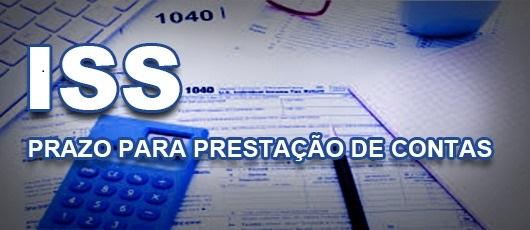 ISS Prazo Apresentações de prestação de contas Carrossel