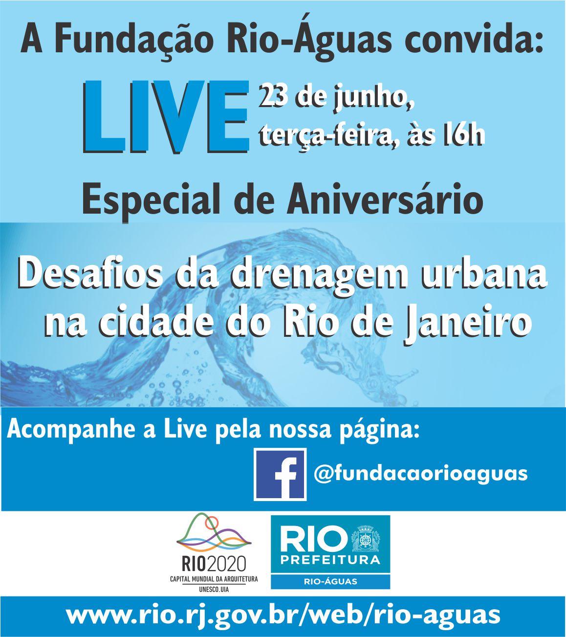 Rio-Águas promove live de aniversário com especialistas na próxima terça