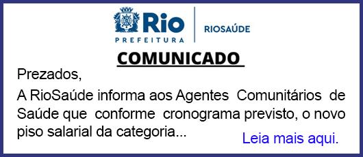 Banner Comunicado - Agentes de Saúde