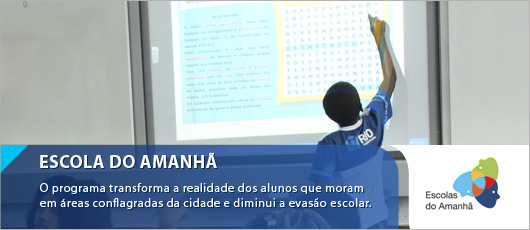 ESCOLAS DO AMANHÃ - Banner Central