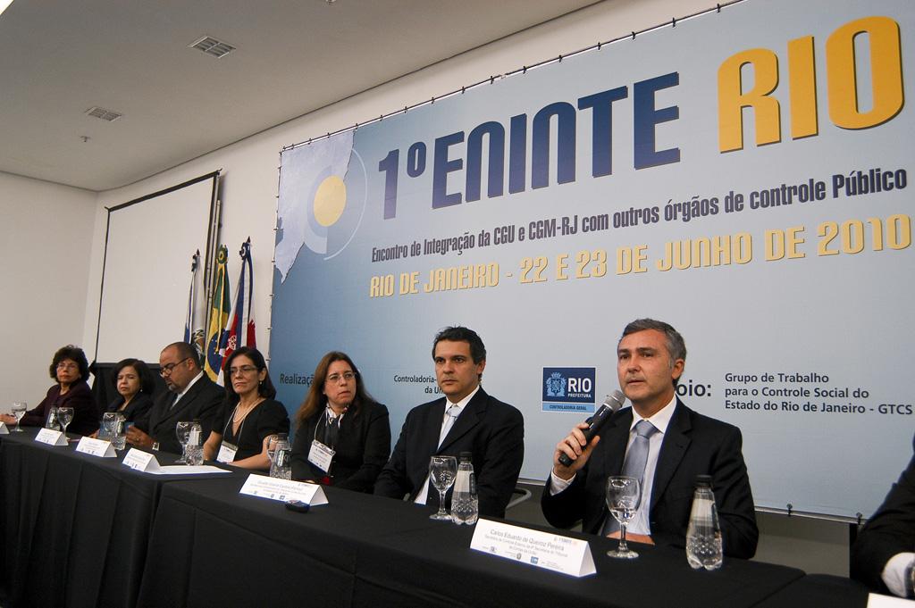 1º ENINTE RIO: 1º Encontro de Integração da CGU e CGM-RJ com outros Órgãos de Controle