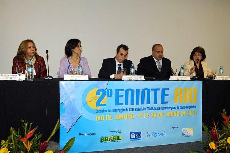 2º ENINTE RIO: 2º Encontro de Integração da CGU, CGMRJ e TCMRJ com outros Órgãos de Controle Públi