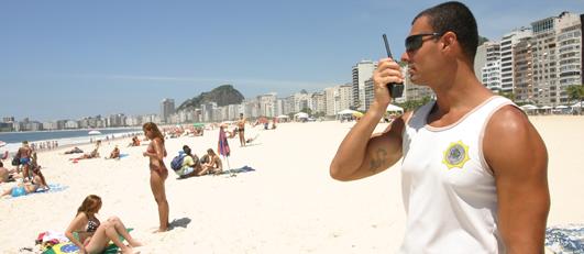 Manter a ordem nas praias e garantir o lazer dos cariocas é a missão do Grupamento Especial de Praia