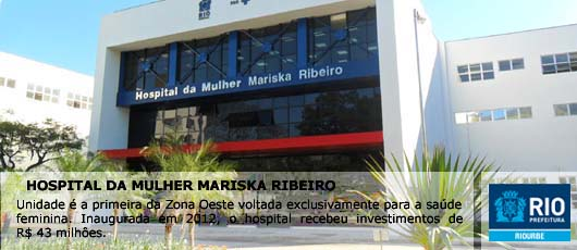 Banner Hospital da Mulher Mariska Ribeiro