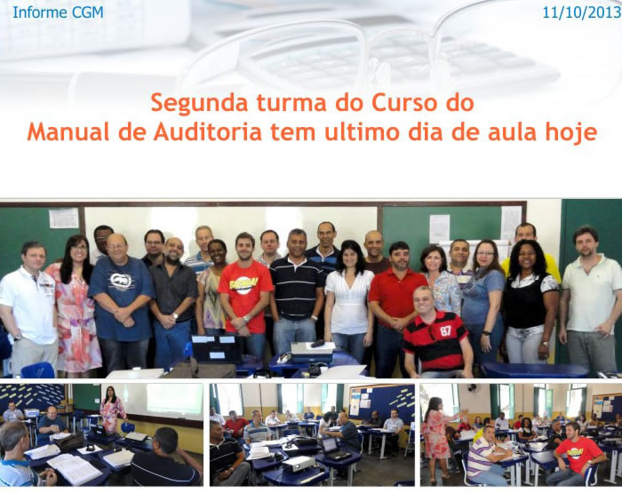 Auditoria da CGM realiza treinamento do Manual de Auditoria