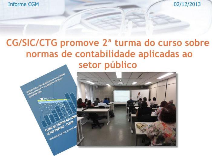 Contadoria da CGM realiza curso sobre normas de contabilidade aplicadas ao setor público