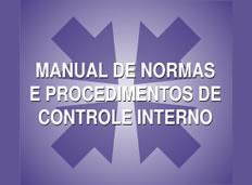 Manual de Normas e Procedimentos de Controle Interno - atos publicados até 31/03/2016