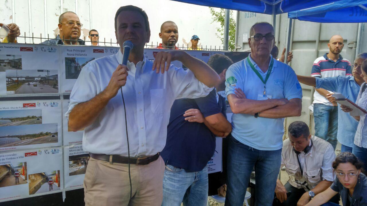 Prefeito Eduardo Paes dá Início às obras da rota cicloviária da Maré