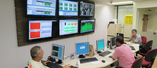 Sala de Operação e Monitoração da Diretoria de Operações