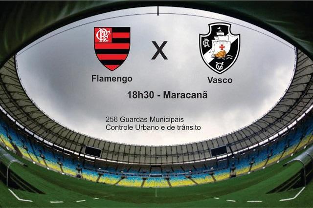 Guarda Municipal atua com 256 agentes na partida entre Flamengo e Vasco
