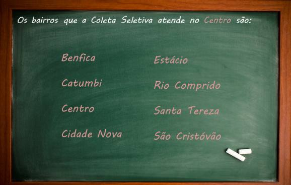 Benfica, Catumbi, Centro (Carioca, Castelo, Lapa e Passeio), Cidade Nova, Estácio, Rio Comprido, Santa Teresa, São Cristóvão