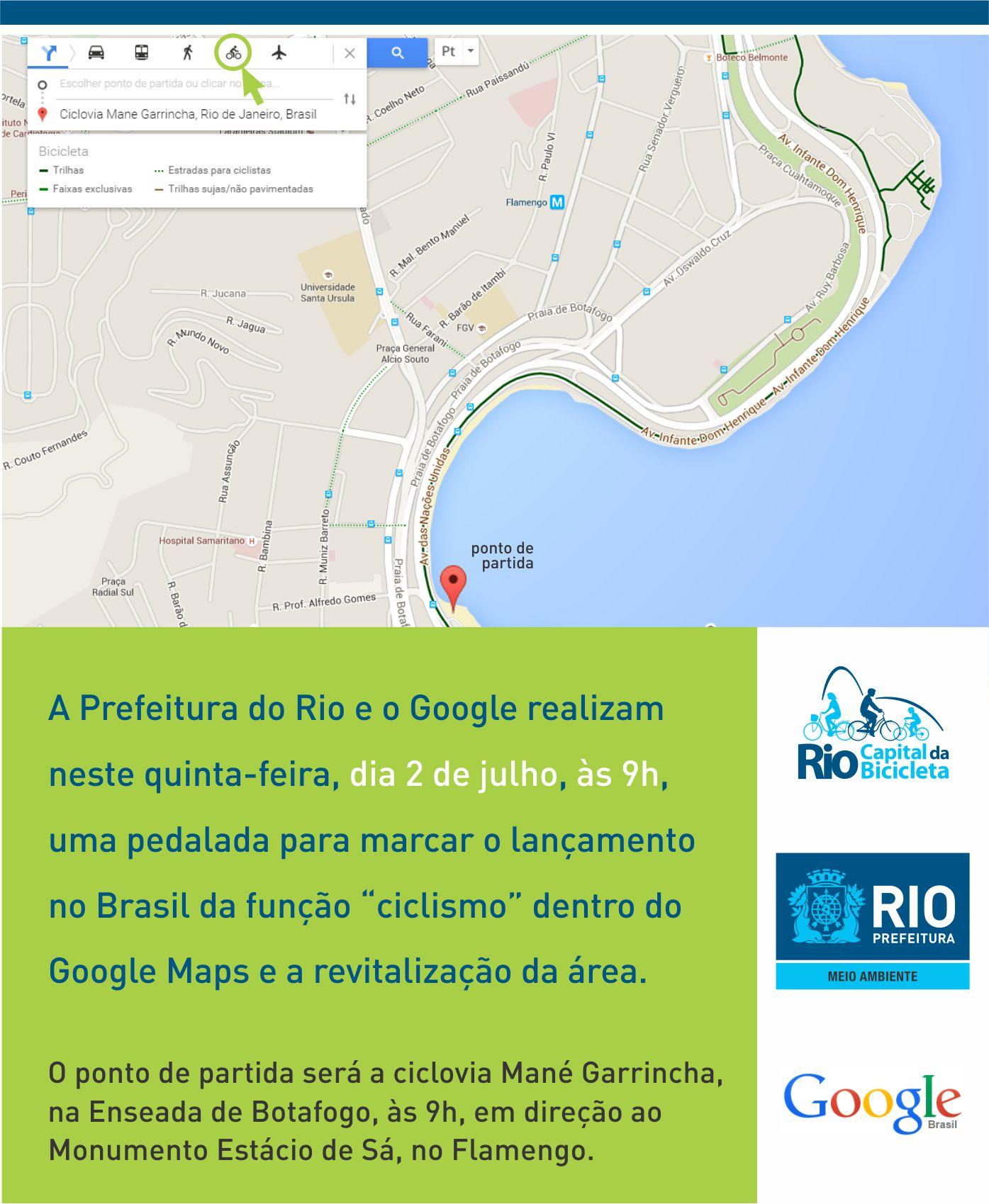 Prefeitura firma parceria com o Google Maps para mapear alternativas de rotas cicloviárias