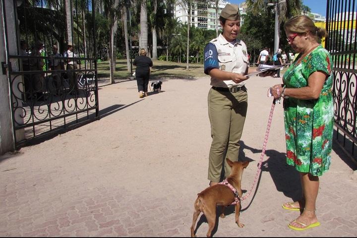 Guarda Municipal realiza ação educativa em Ipanema