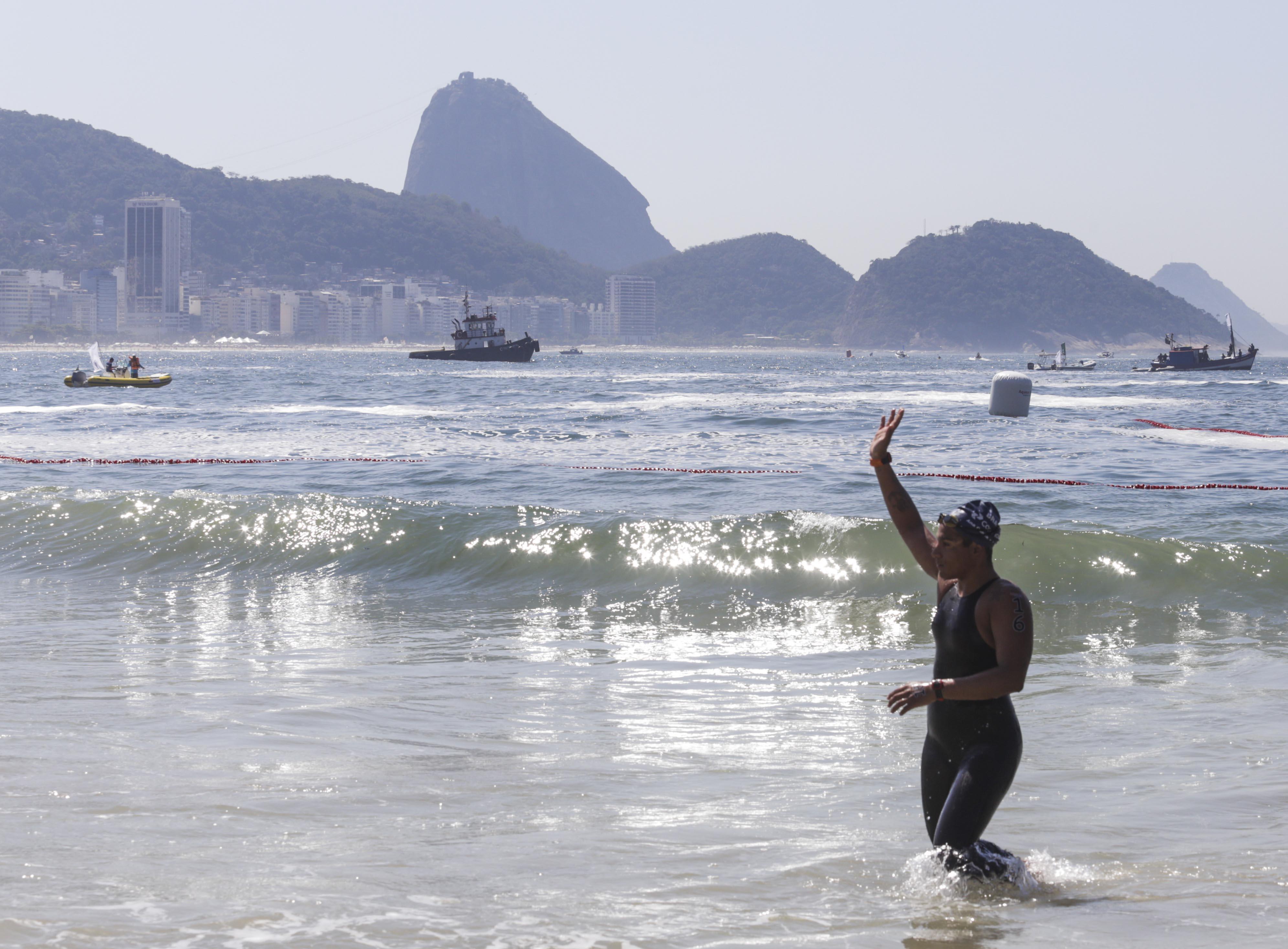 Brasileiros sobem ao pódio do evento-teste para a Maratona Aquática