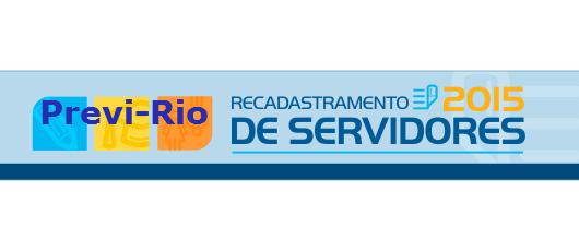 recadastramento dos servidores ativos do Previ-Rio