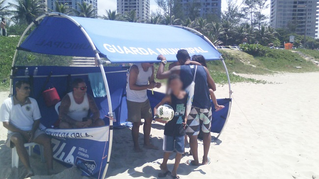 Guarda Municipal localiza 47 crianças perdidas de seus pais nas praias no fim de semana
