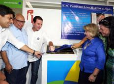 Professor Lino Martins é homenageado com inauguração de escola primária