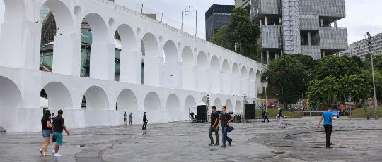 Secretaria de Conservação revitaliza os Arcos da Lapa