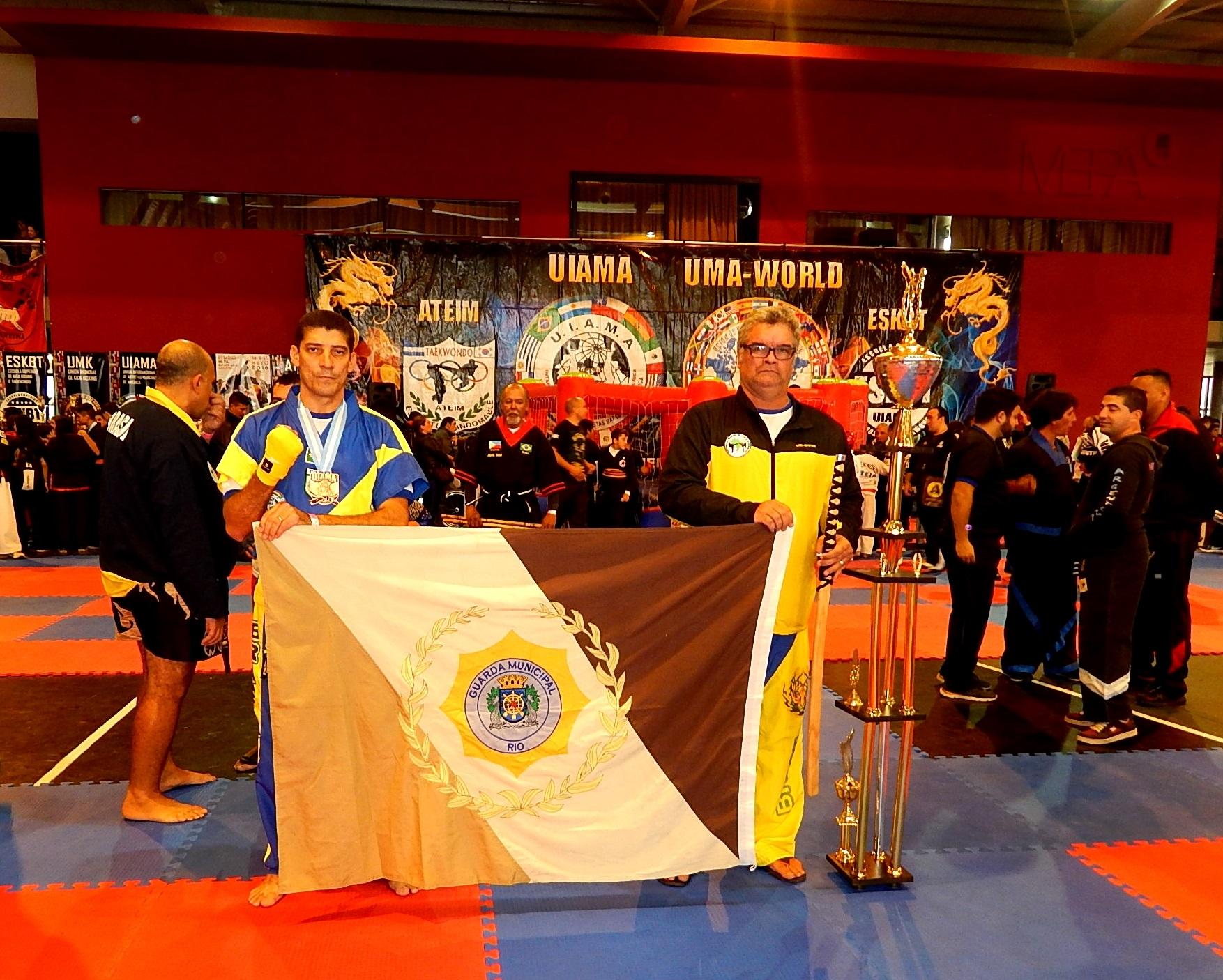 Guardas se destacam em campeonato mundial  de artes marciais disputado na Argentina