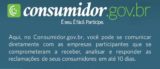 Banner rotativo - Consumidor.gov