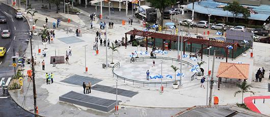 Prefeito entrega reservatório de águas pluviais da nova Praça Varnhagen