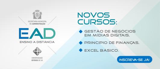 Banner novos cursos EAD Estácio