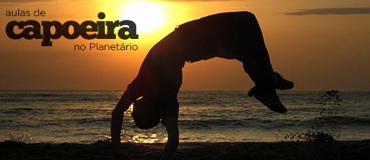 Aulas de capoeira no Planetário da Gávea