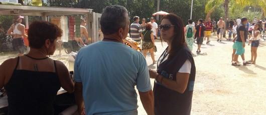 Fiscalização de Ambulantes na Lagoa Área do Mopi 03 Leblon