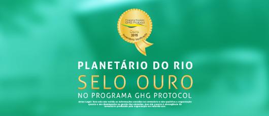 Fundação Planetário é ouro no registro de emissões de GEE