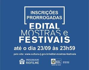 Inscrições abertas para o Edital de Mostras e Festivais.