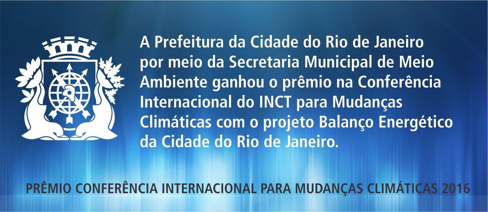 Rio de Janeiro recebe prêmio prêmio em reconhecimento à elaboração do Balanço Energético da Cidade