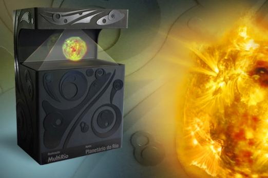 Totem de simulação holográfica da MultiRio é aberto ao público no Planetário