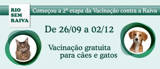 Vacinação contra Raiva acontece esta semana na Barra e Jacarepaguá