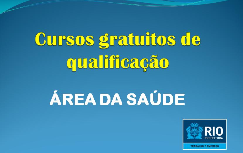 Cursos de qualificação profissional na área da saúde