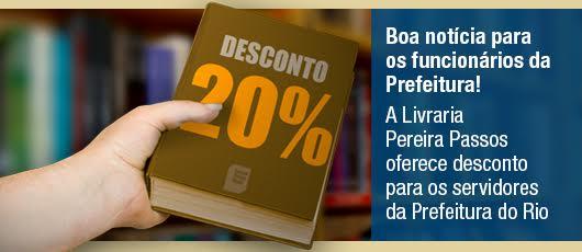 Livraria Pereira Passos oferece desconto para funcionários da Prefeitura do Rio