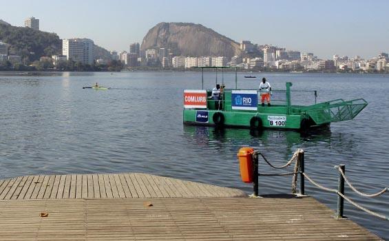 Limpeza da Lagoa Rodrigo de Freitas