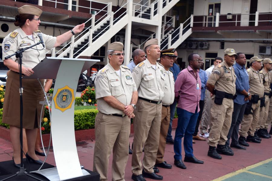 Comandante da GM-Rio fala aos GMs sobre nova missão da corporação