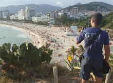 Guarda Municipal monta base com patrulha fixa na Pedra do Arpoador