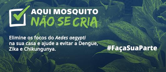 Banner Aqui mosquito não se cria