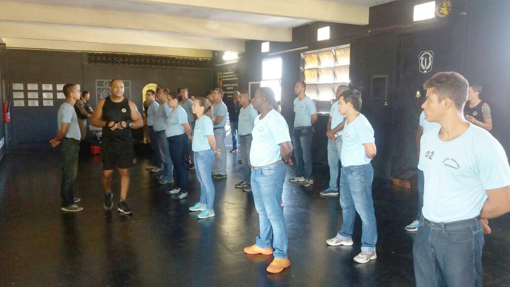 GM-Rio treina guardas de Guapimirim para ações de controle de distúrbios