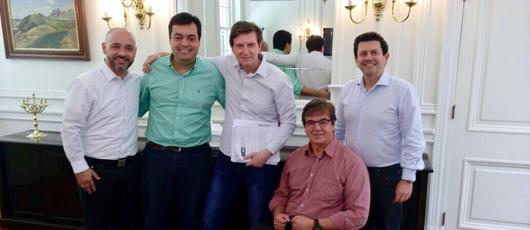 Subsecretário Geraldo Nogueira se reúne com prefeito Marcello Crivella, para discutir sobre proposta