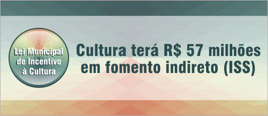 Cultura terá R$ 57 milhões em fomento indireto banner